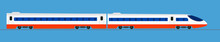 Passenger Express Train. Railw...