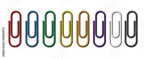Photo Raccolta di graffette colorate per fogli
