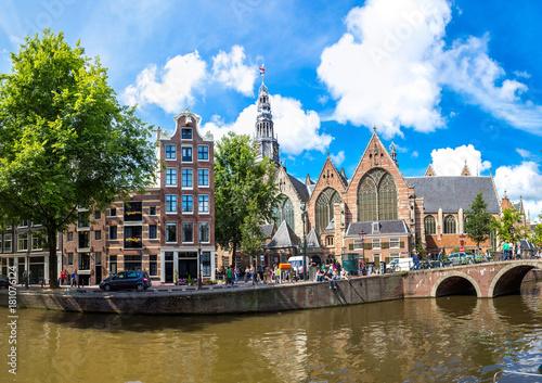 Plakat Stary kościół (stary kościół) w Amsterdamie