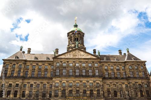 Obraz na dibondzie (fotoboard) Wieża zegarowa w Amsterdamie
