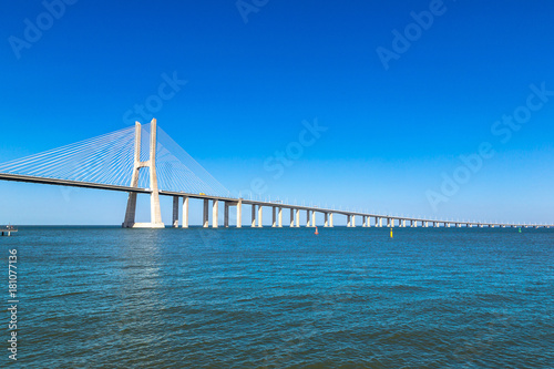 Vasco da Gama Bridge in Lisbon Canvas Print