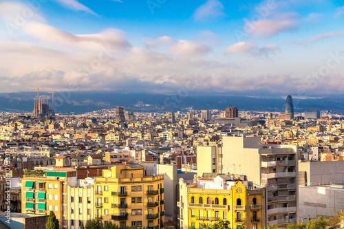 Panoramic view of Barcelona Wallpaper Mural