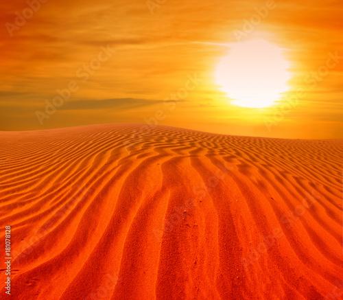 Poster Rood sand desert landscape
