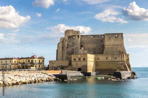 Garden Poster Napels Castel dell'Ovo in Naples, Italy