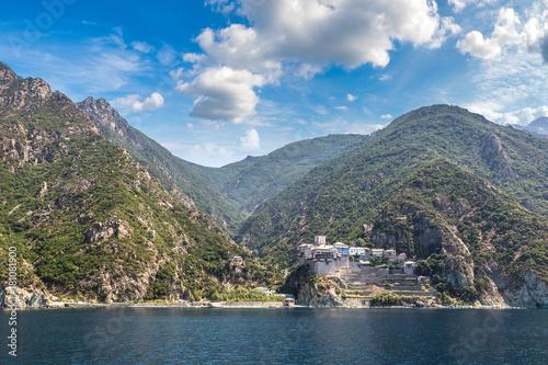 Dionisiou Monastery on Mount Athos Canvas Print