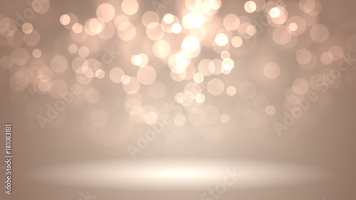 Photo  Decorative christmas background with bokeh lights and snowflakes