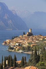 Malcesine village and Caste...