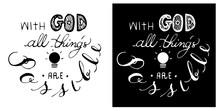 Christianity Calligraphy Bible...