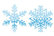 Snowflakes. Blue Symbol Isolat...