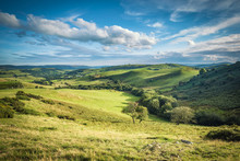 Scenic British Countryside At Summer