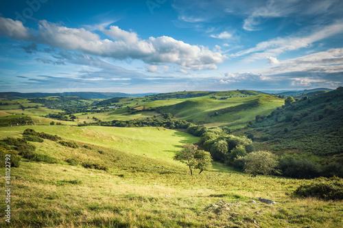 Poster Bleu Scenic British Countryside at Summer