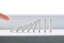 White Domino, Domino Principle, On White Background
