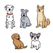 犬 セット イラスト