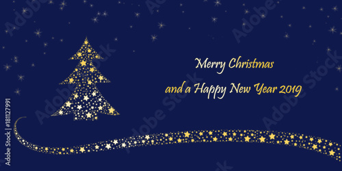 christmas card merry christmas and a happy new year 2019