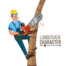 Lumberjack Vector. Classic Wor...