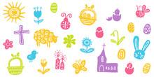 Farbenfrohes Illustrations-Set...
