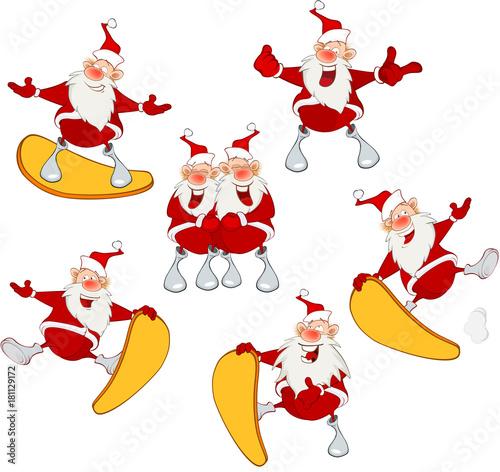 Papiers peints Chambre bébé Cartoon Illustration of Funny Cute Santa Claus for you Design