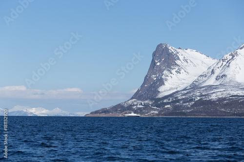 Spoed Foto op Canvas Antarctica Montañas en Harstad, Noruega