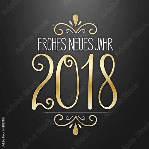 Frohes Neues Jahr 2018 Poster