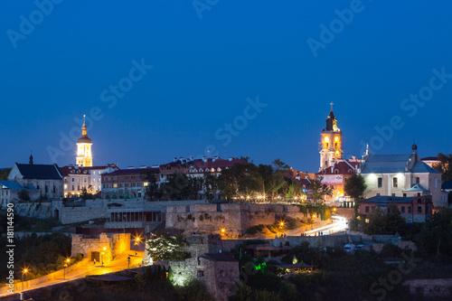 Staande foto Kiev Kamianets-Podilskyi at night, Ukraine
