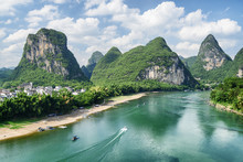 View Of The Li River (Lijiang River) With Azure Water