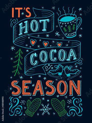goracy-kakao-sezonu-reki-literowania-wycena-z-dekoracjami-na-ciemnym-tle-poma
