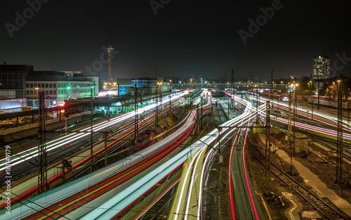 Obraz Traffic at Ulm Station - fototapety do salonu