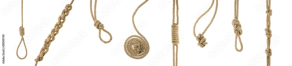 Fototapety, obrazy: ropes with knots and loops