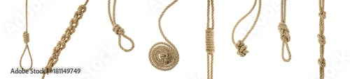 Fotografia ropes with knots and loops