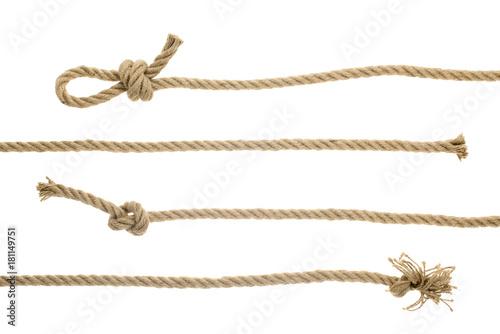 Fotografía  ropes with knots