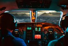 Flugzeug Auf See