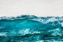 Transparent Blue Wave Texture Close Up