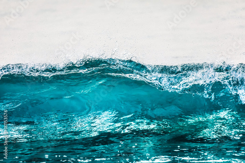 Poster Water transparent blue wave texture close up