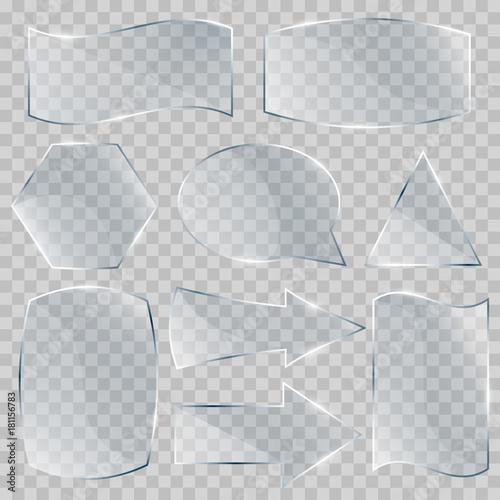 Fényképezés  Set of glass banners