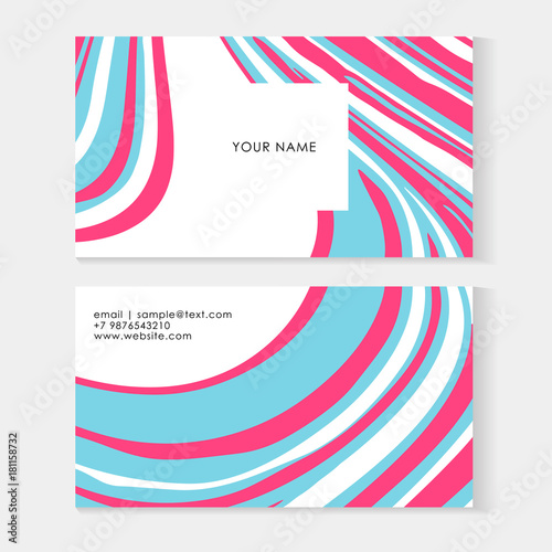 Set abstract business cards tamplate with liquid lines marble set abstract business cards tamplate with liquid lines marble effect vector illustration vector colourmoves