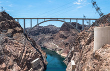 Dam And Bridge On The Colorado...