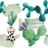 Tropical & woman seamless pattern  - 181162121