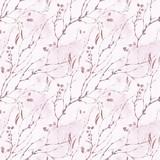 Watercolor spring vintage botanical seamless pattern - 181163399