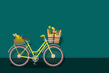 Yellow Bicycle With Empty Space