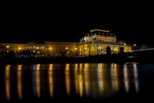 National Theatre Prague Night