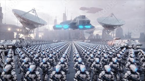 Платно  invasion of military robots
