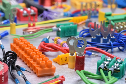 Components and accessories for use in electrical installations