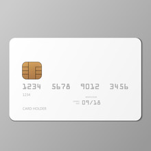 Realistic White Credit Card Mo...