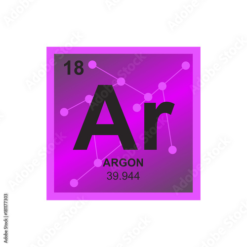 Vector Symbol Of Argon From The Periodic Table Of The Elements On