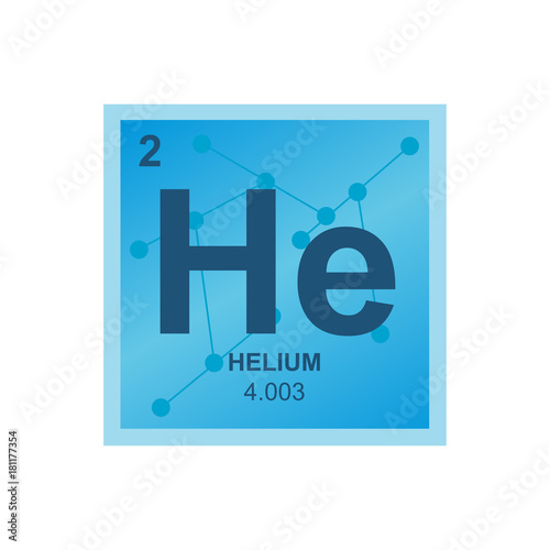 Vector Symbol Of Helium From The Periodic Table Of The Elements On