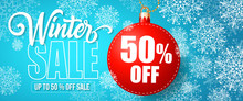 Winter Sale Fifty Percent Off ...