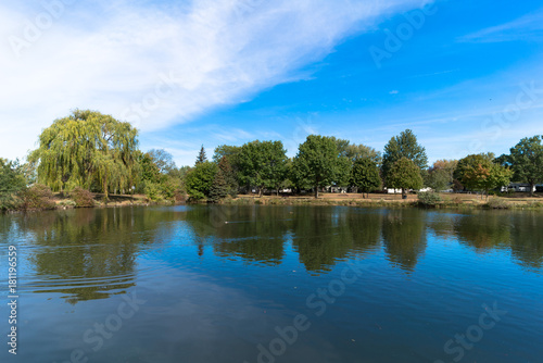 Fotografie, Obraz  Autumn Reflections on Pond