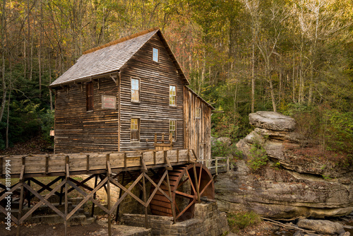 Babcock grist mill in West Virginia Tablou Canvas