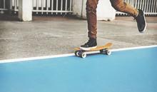 Young Man Skateboarding Shoot.