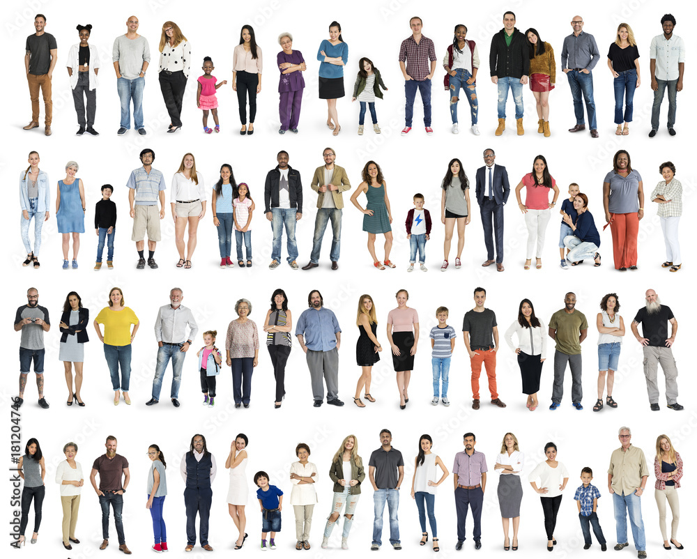 Fototapety, obrazy: Group of multiethnic diverse people